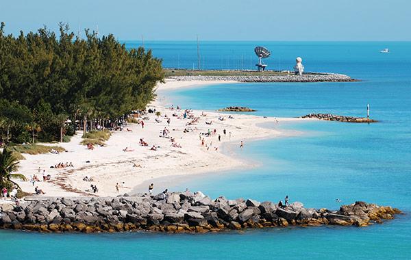 NAS Key West Truman Annex Beach at Florida